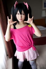 Cute young japanese cosplay teen Nico Yazawa