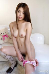 Nude japanese teen Ayaka Minamino in stockings