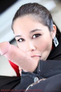 Petite asian cum lover Mika gets a huge facial