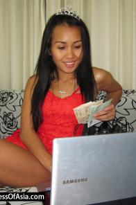 Beautiful Thai Princess playing on webcam