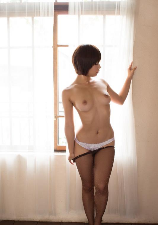 Upskirt asian short hair panties